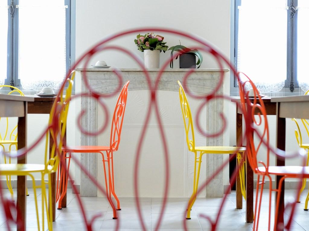 Hôtel Lemon - Menton - Salle petit-déjeuner - décoration