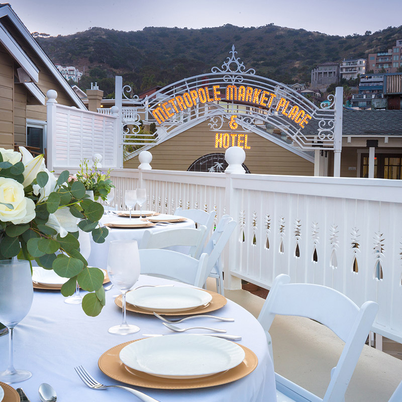Catalina Island Weddings Hotel Metropole Wedding Venue