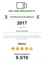 certificato di eccellenza bed and breakfast