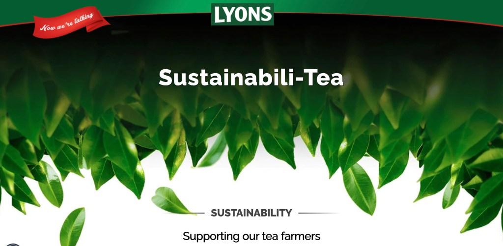 Lyons Tea takes another Big Step towards Sustainabili-Tea