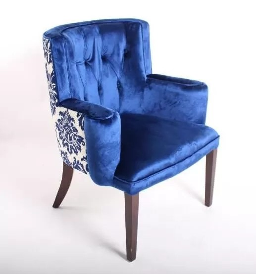 Tufted Accent Chair Ottoman