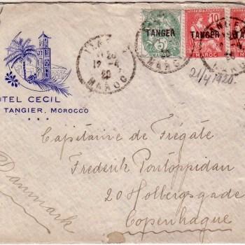 Hotel Cecil Envelope -12-04-1920