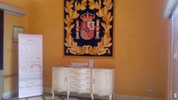 nuestra entrada decorada