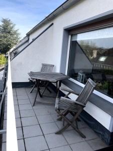 Balkon mit Sitzgruppe des Apartment Eibenkamp 25