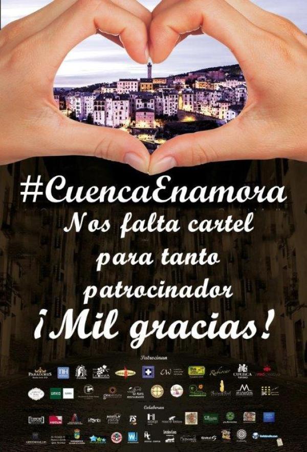 CARTEL CUENCA ENAMORA DEF patrocinadores frase