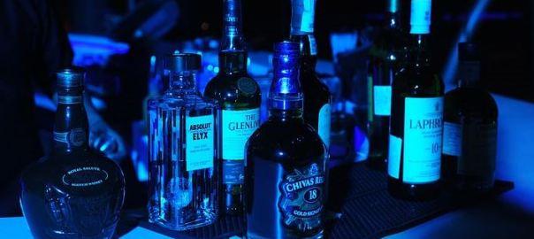 Bottle of alcohol drinks