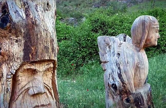 Ruta de las Esculturas en Bogarra