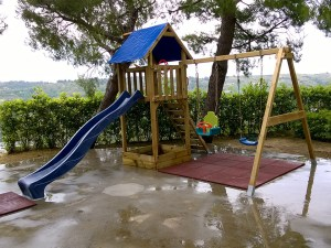 Il parco giochi per bimbi