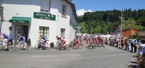 Hôtel Le Valier, Saint Girons, Ariège, lors du Passage du Tour de France.