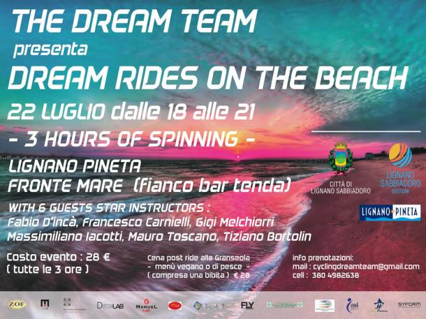%name 22 luglio 2017   SPINNING IN SPIAGGIA: DREAM RIDERS ON THE BEACH