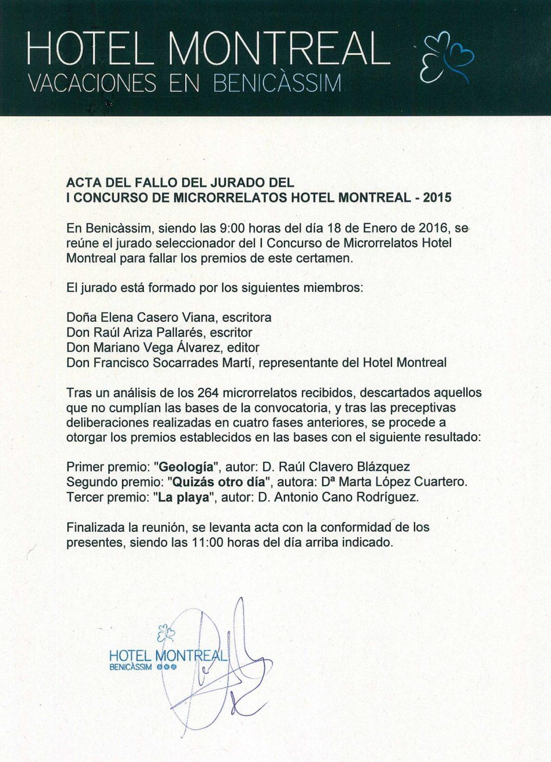 Acta I Concurso Microrrelatos