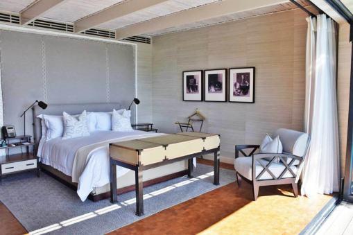 apartamento em tons claros do Delaire Graff Lodges and spa