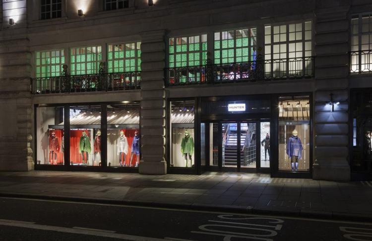 Fachada da loja da Hunter na Regent Street em Londres