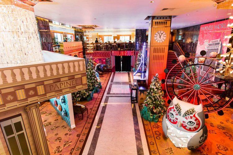 Decoração de Natal do lobby do Mandarin Oriental Hong Kong