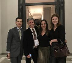 Shoichi Iwashita (Simonde), Jayme Drummond (Carioca no Mundo) e Sheila Muller (Leading Hotels) na abertura, no Palácio Tangará