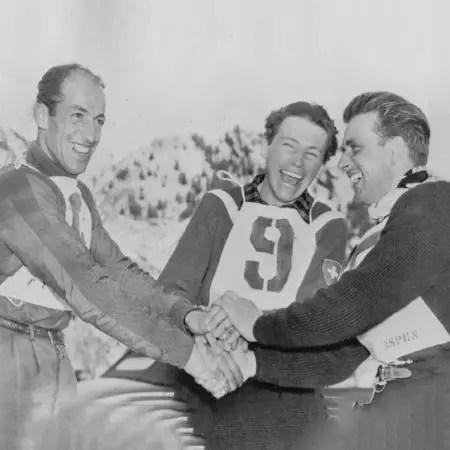 Zeno Colo, Fernand Grosjean, James Couttet 1950