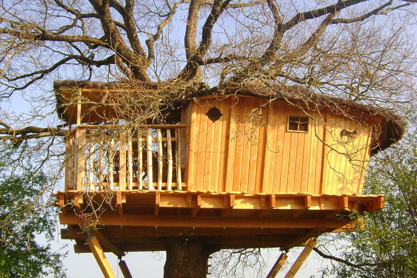 Les Cabanes De Chanteclair Dormir Dans Les Arbres