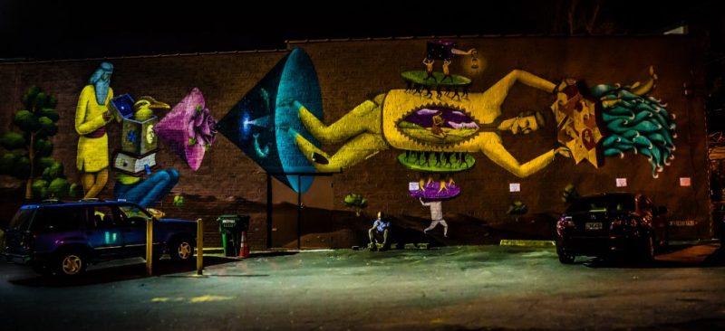 Interesni Kazki mural in East Atlanta Village.