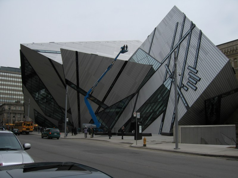 The controversial crystal outside the Royal Ontario Museum in Toronto.