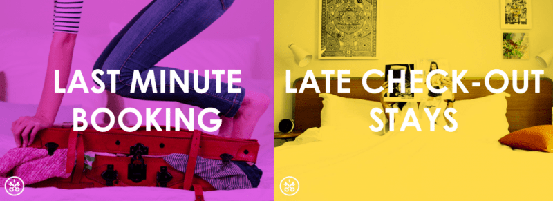 Book a late-minute dayroom with late-afternoon checkout using HotelsByDay