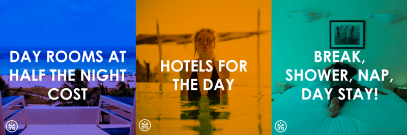 Use HotelsByDay to recharge, regroup, relax, and get on with your adventure!