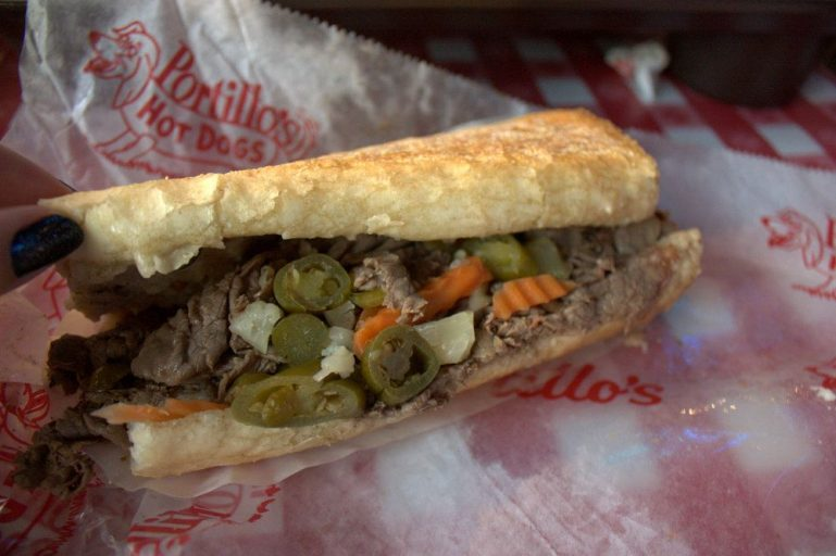 Nothing like a juicy italian beef with sport peppers from Portillo's.