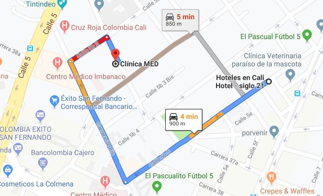 Hoteles en cali cerca de la clinica MED