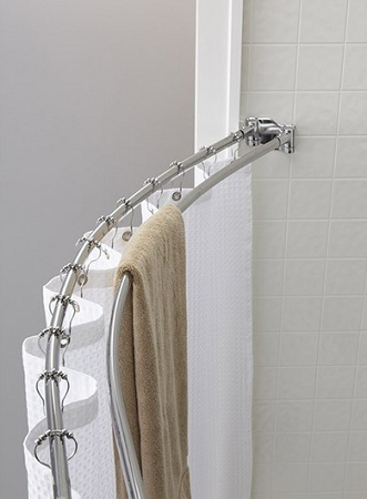 the crescent double curved shower rod 5 ft round bright finish low as 62 95 each