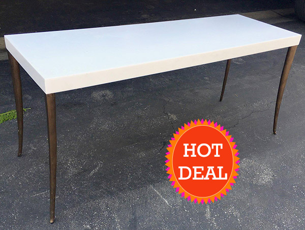 Hotel Surplus SLS BH Hotel By Philippe Starck Console Table