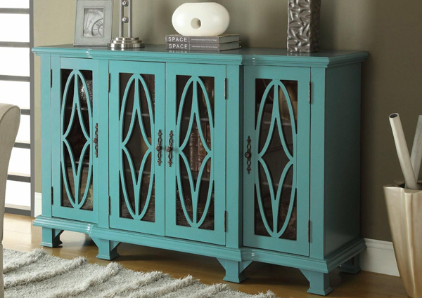 Hotel Surplus Teal Wood Amp Glass Accent Cabinet