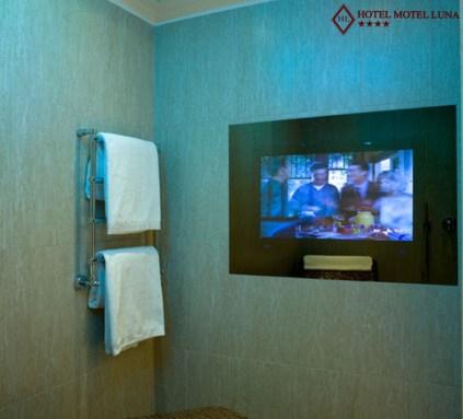 Idromassaggio e televisione - camera suite - Hotel Motel Aeroporto Linate