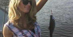 Blonde Hot Wife Fishing