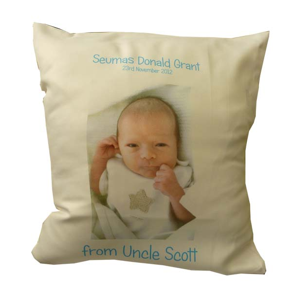 Personalised cushion cover for Baby Christening Gift ...