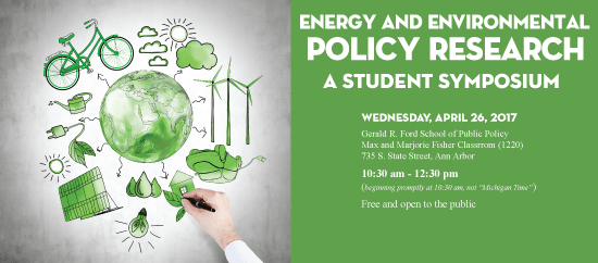 Energy and Environmental Policy Research: a Student Symposium