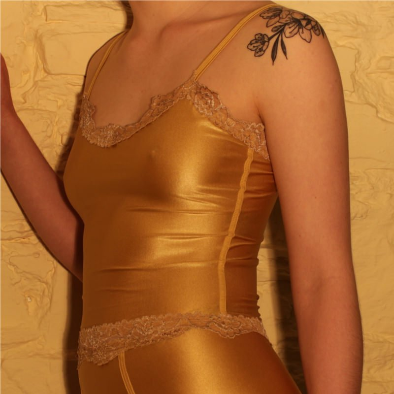 Charlie Long Cami Top Gold Side