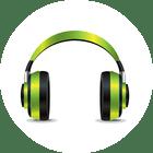 green earphones