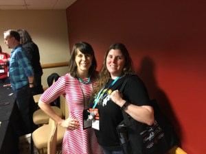 Melanie with narrator Tavia Gilbert #RT17
