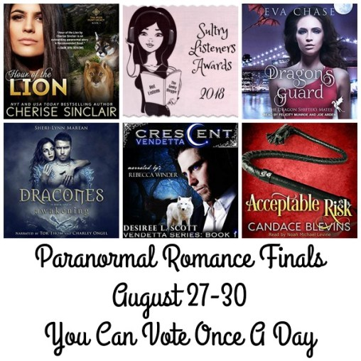 #SultryListeners Awards Finals 2018 – Paranormal Romance