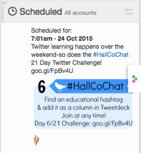Scheduled Tweets for Challenge