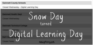 Snow day turned Digital Learning Day