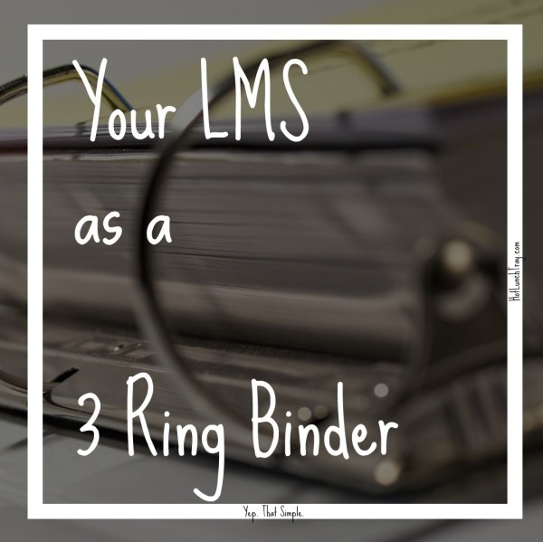 LMS as a 3 ring binder