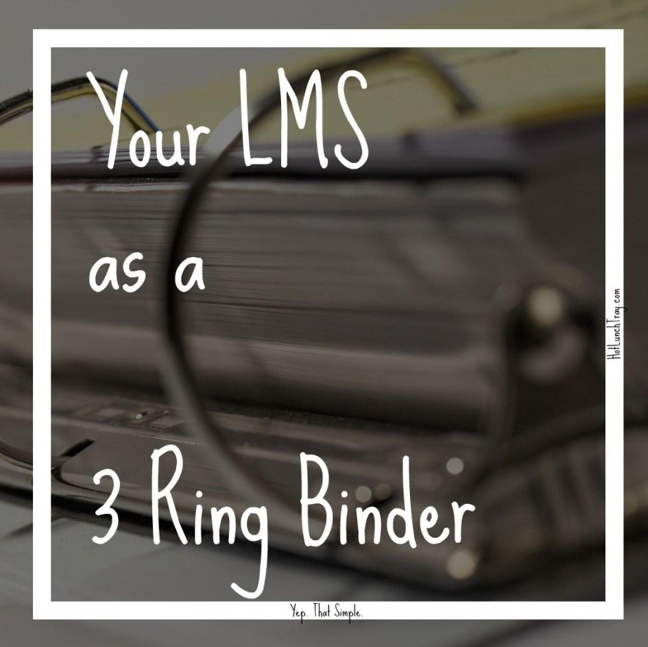 LMS as a 3 ring binder
