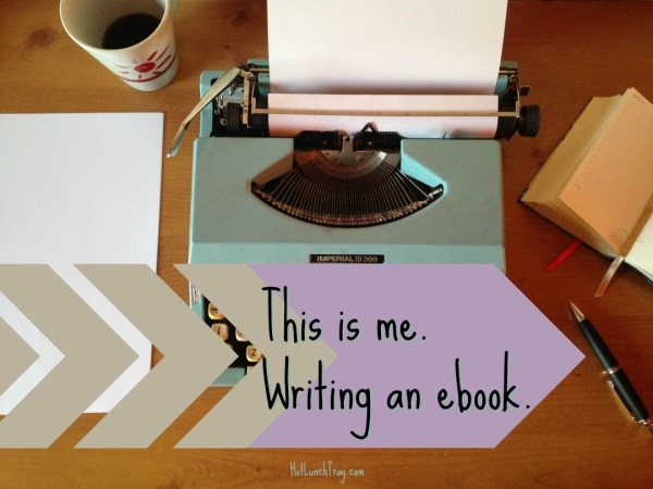 me writing an ebook