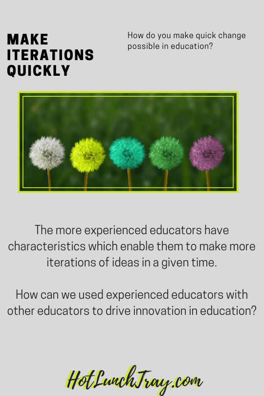 make Iterations quickly in education PIN
