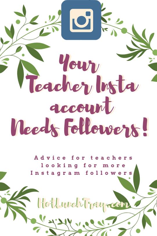 Your Teacher Insta account Needs Followers! PIN