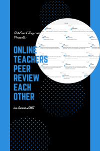 Online Teacher Peer Review Each Other