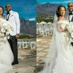 VIDEO: Banky W & Adesua Etomi's White Wedding Ceremony In South Africa