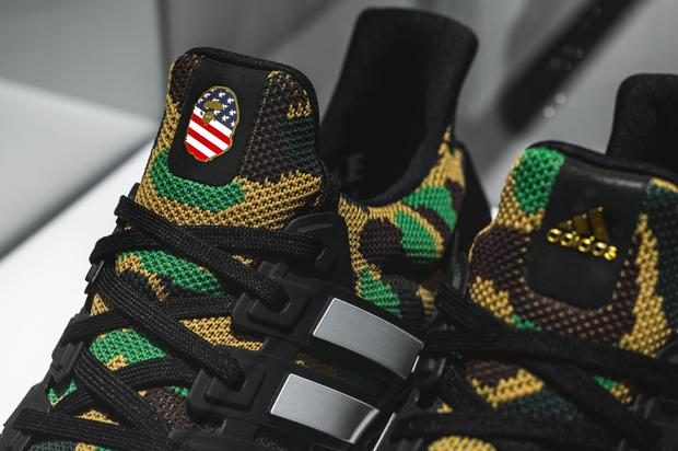 Official images of BAPE s upcoming UltraBoost collection for Super Bowl  LIII. 80a539e68