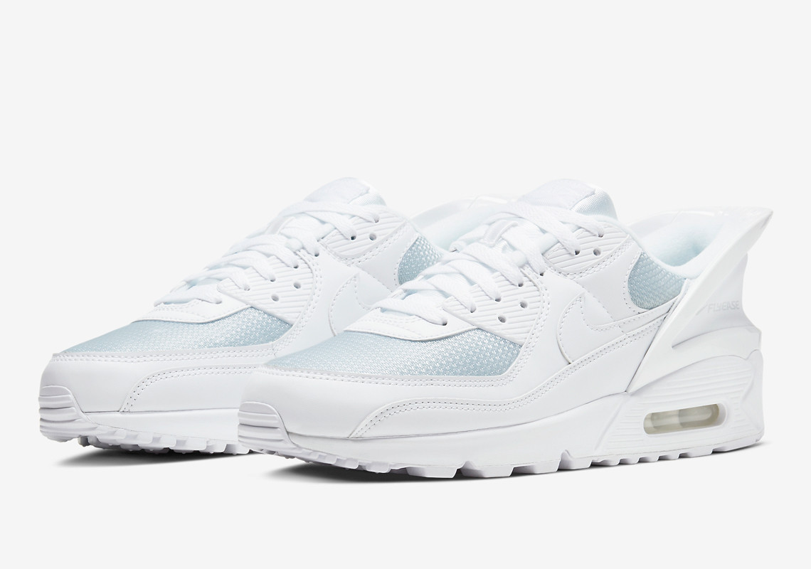 Pristine White Colorway Nike Air Max 90 Flyease Unveiled