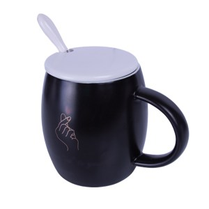 Plain Black Coffee Mug